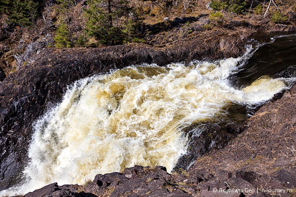 потоки водопада Кивач