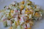 Салат из крабовх палочек.