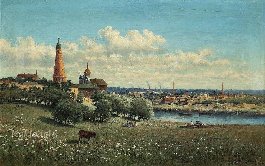 Вид Симонова монастыря близ Москвы