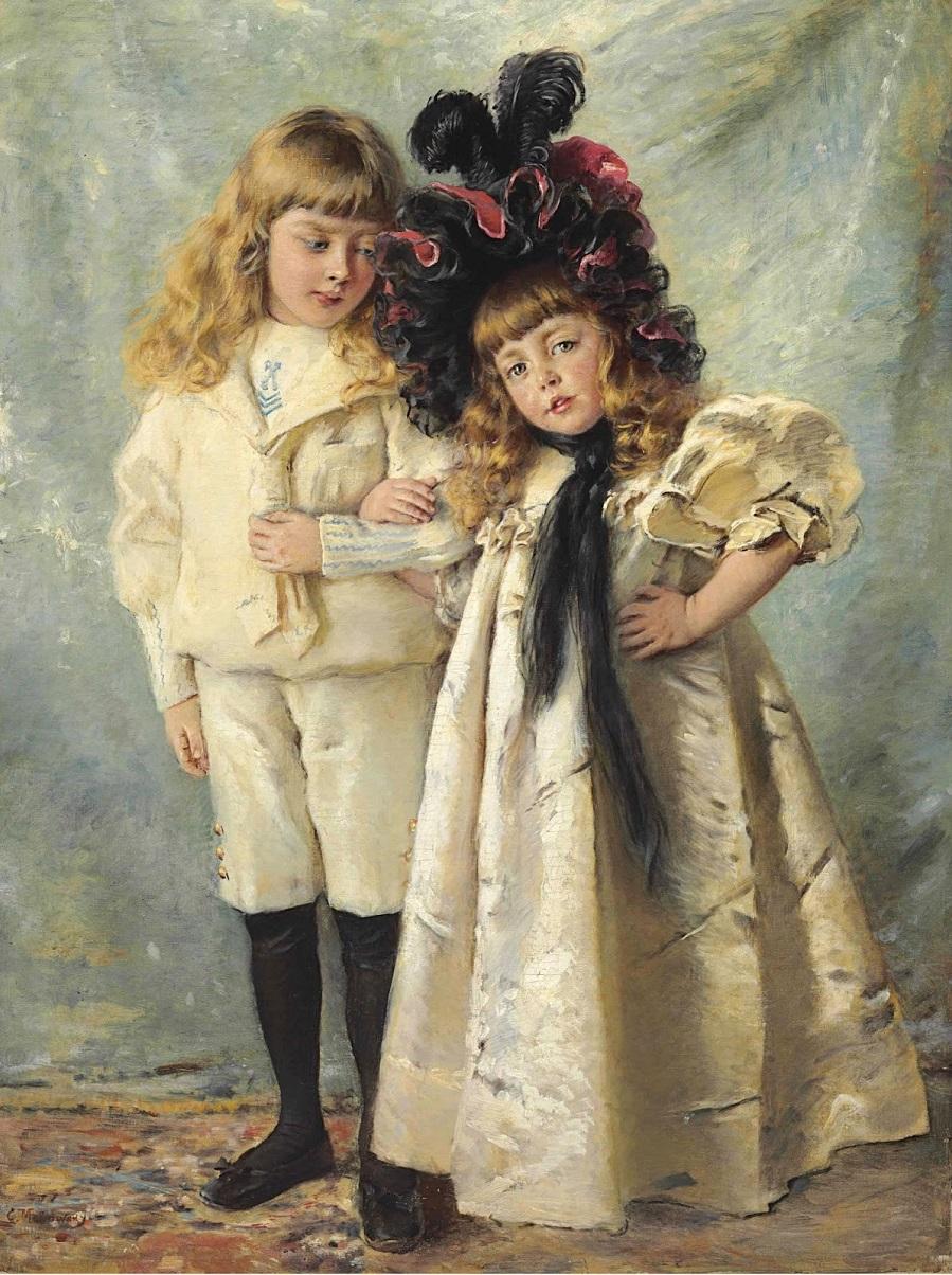 Портрет детей художника, Константина и Ольги Частное собрание.