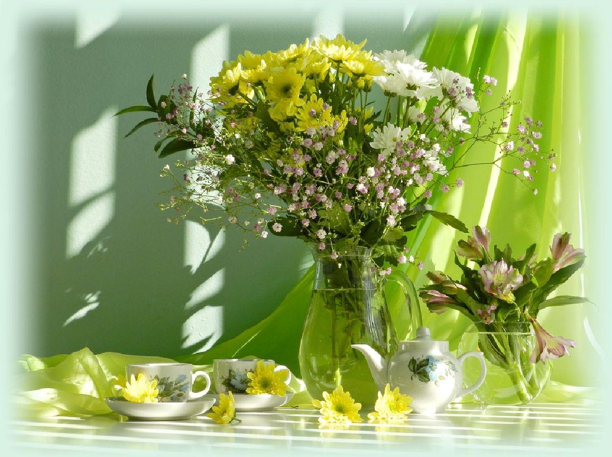 Цветы Натюрморт Фото