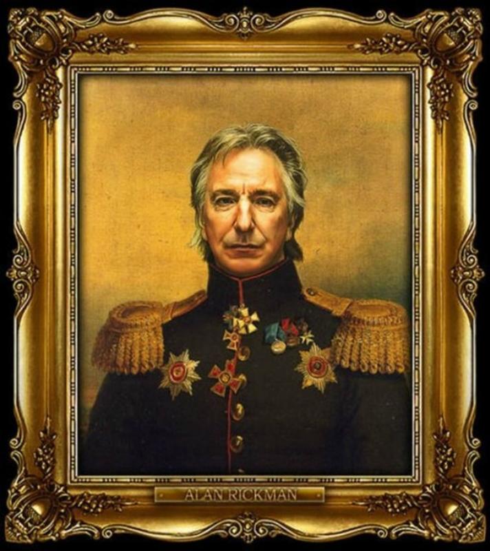 Знаменитые актеры на старинных картинах в форме царских генералов