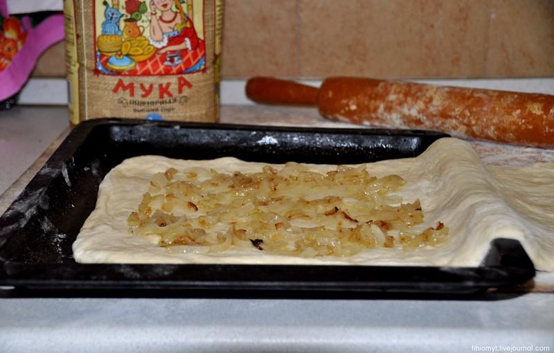 Печёный пирог с хеком
