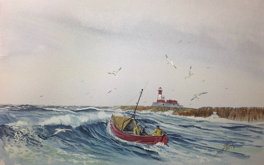 Coble off the Longstone Lighthouse, of Grace Darling fame.
