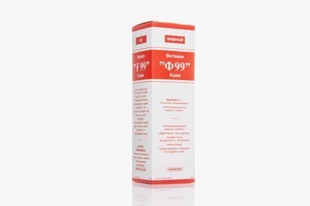 Крем, состоящий изполиненасыщенных жирных кислот ивитамина F. Изначально средство предназначал