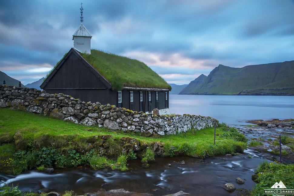 Церковь Фуннингура, Фарерские острова.
