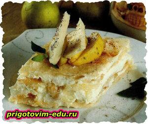 Торт с сыром и грушами