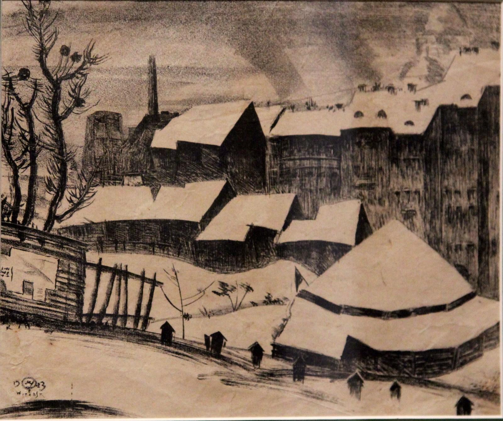Добужинский М.В. 1875-1957 Витебск. Цирк. 1923 Бумага, литография Из частной коллекции (Минск)