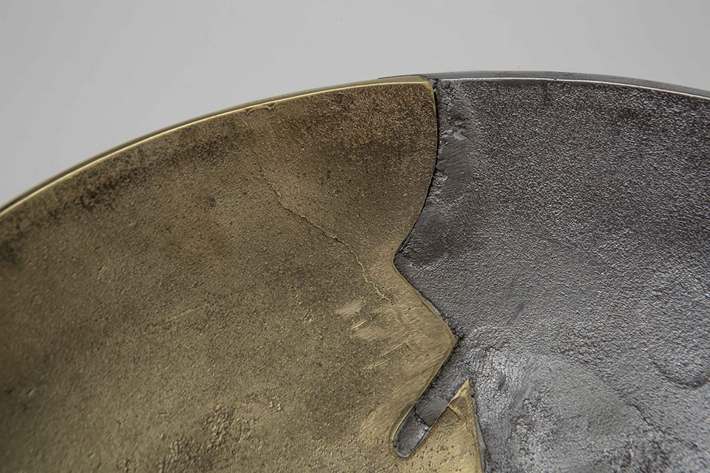 Dual Bowls: Striking Mixed Metal Bowls Forged With the Ancient Art of Sand-Casting