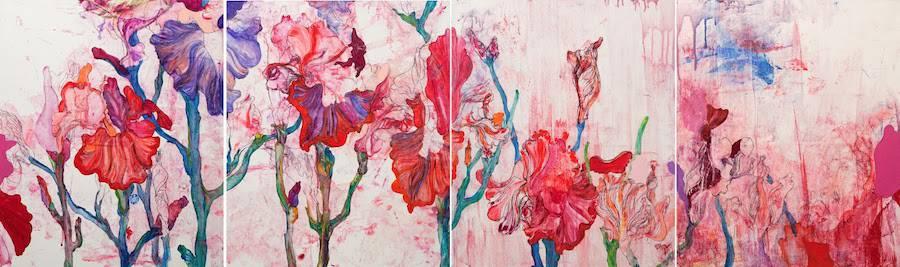 Oneiric Flowers Fresco by Sun Young Min