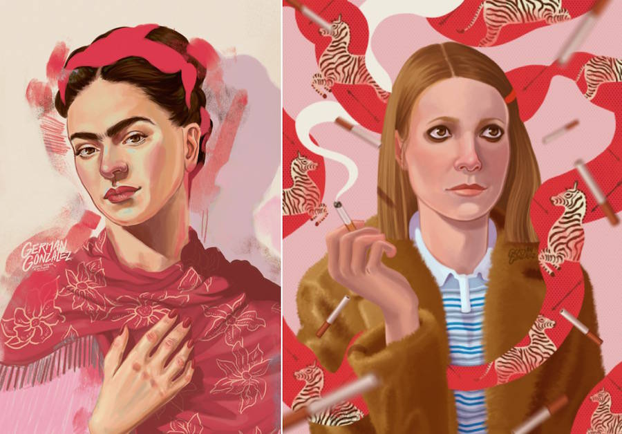 Colorful Illustrated Portraits