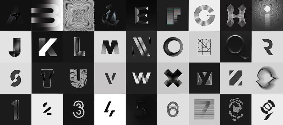 Superb Black and White Typography Project (27 pics)