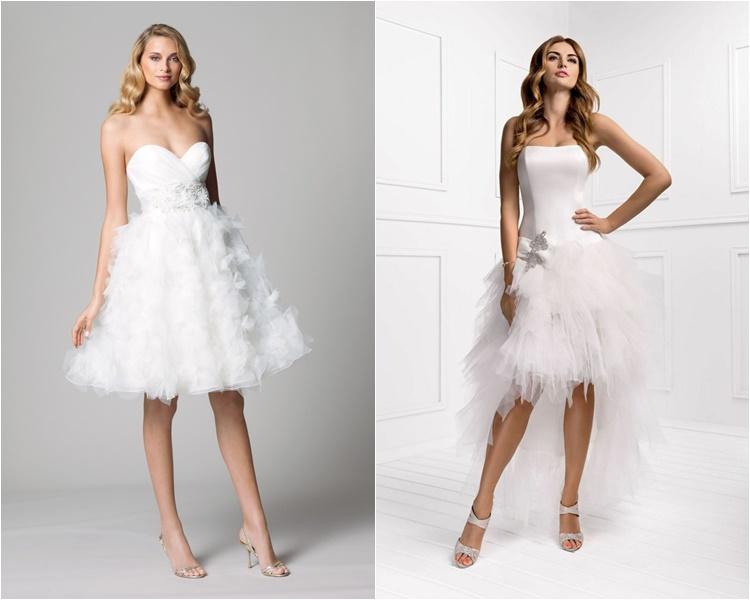 короткие свадебные платья 2016 фото 13