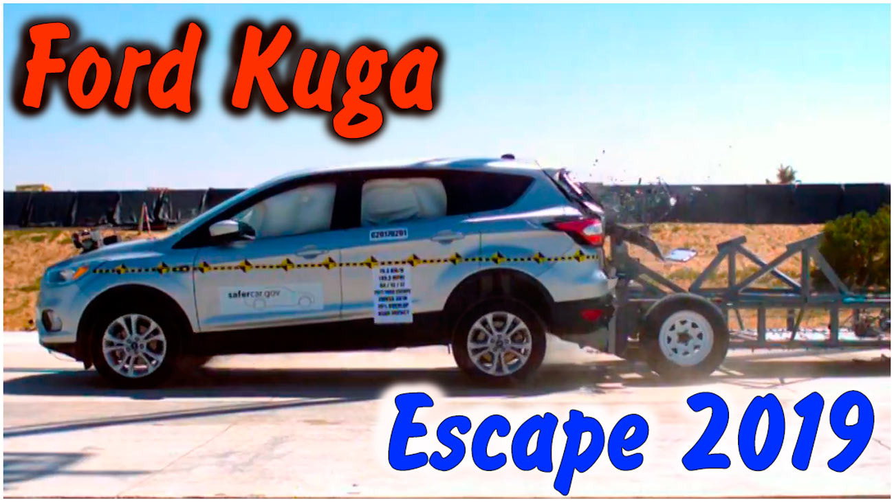 Задний краш-тест Ford Escape/Kuga 2019