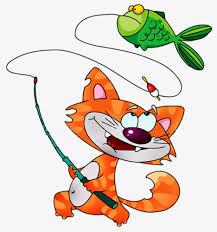 Картинка Кошка с рыбкой!