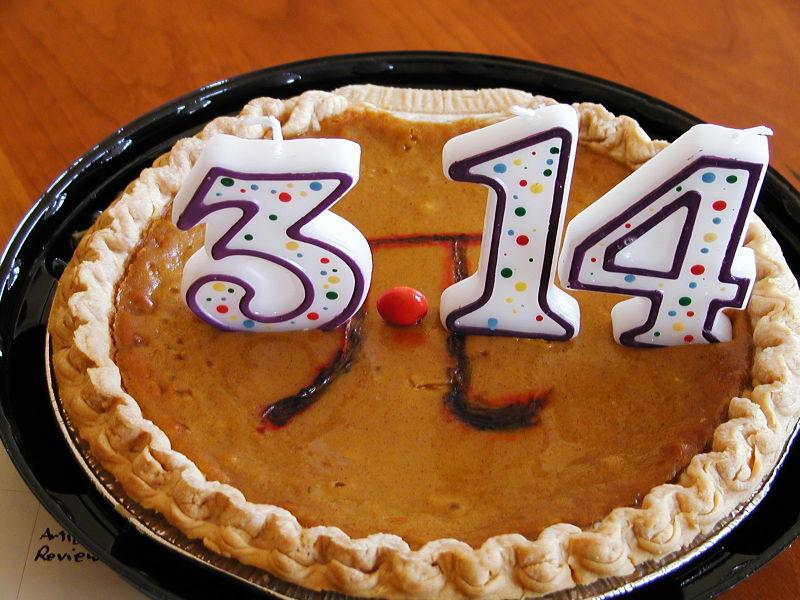 Открытки Международный день числа «Пи». Торт к празднику
