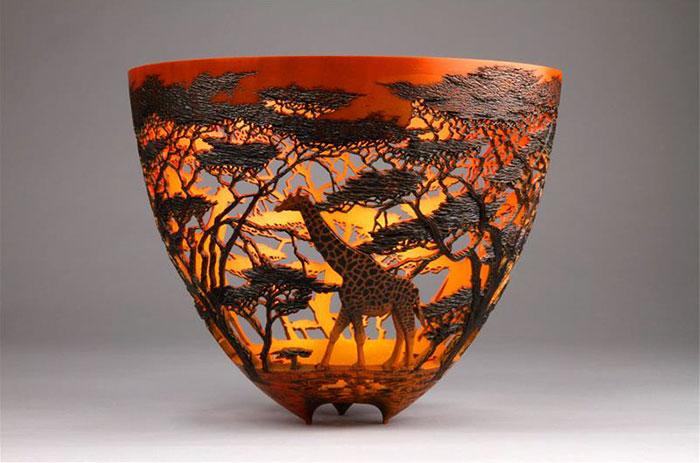 Восхитительные вазы ручной работы с природными мотивами (18 фото)