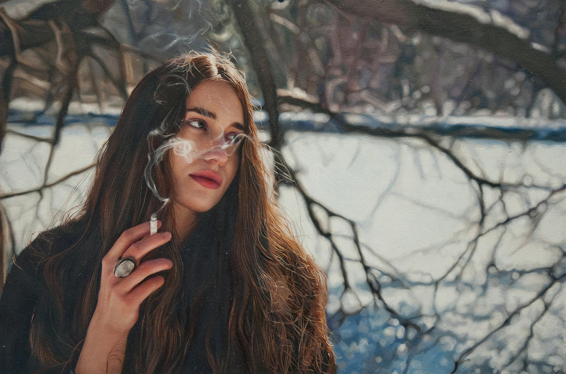 The impressive hyperreal paintings of artist Yigal Ozeri