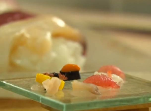 The world's smallest Sushi on a single grain of rice!