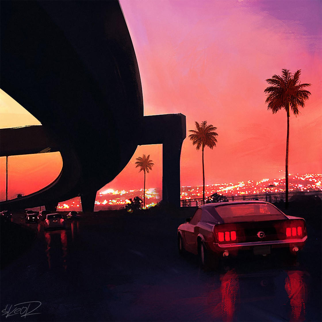 Chromatic Horizon – The dark and futuristic illustrations by Tony Skeor