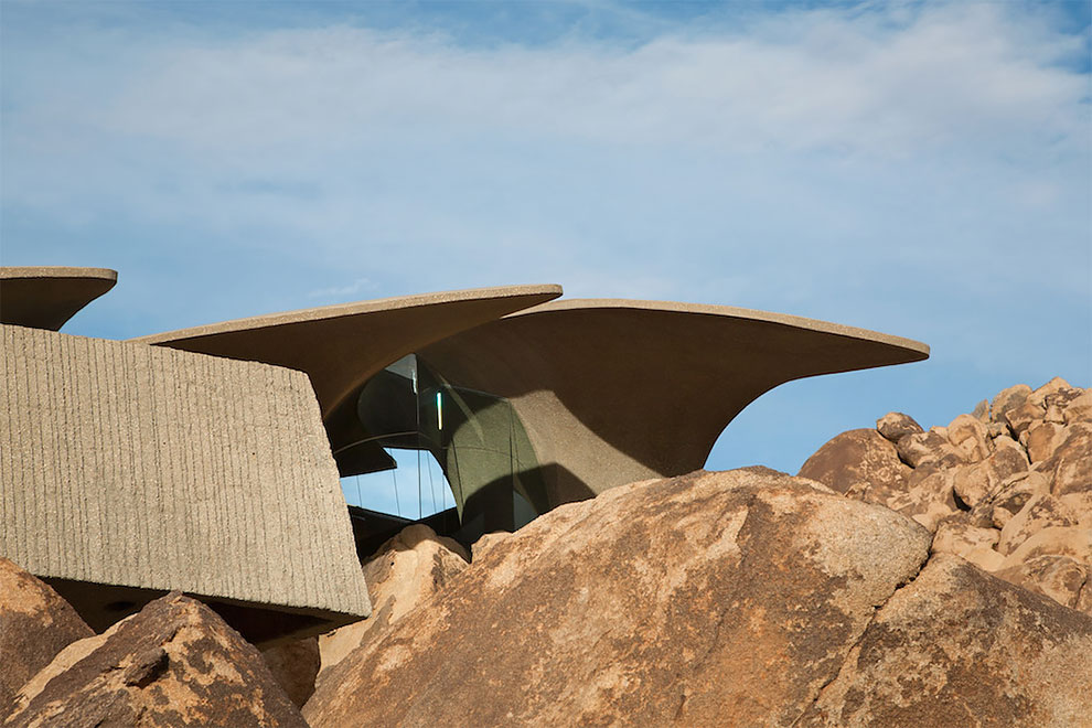 Distinctively-Shaped Home in the Californian Desert