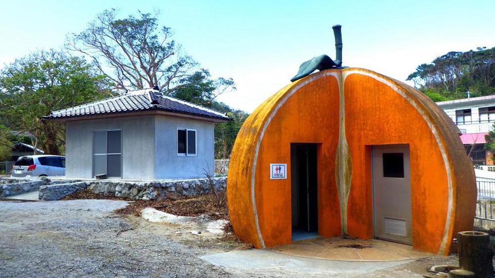 Japanese-Designed Public Restrooms in the Shape of Fish, Crabs, Tree Stumps
