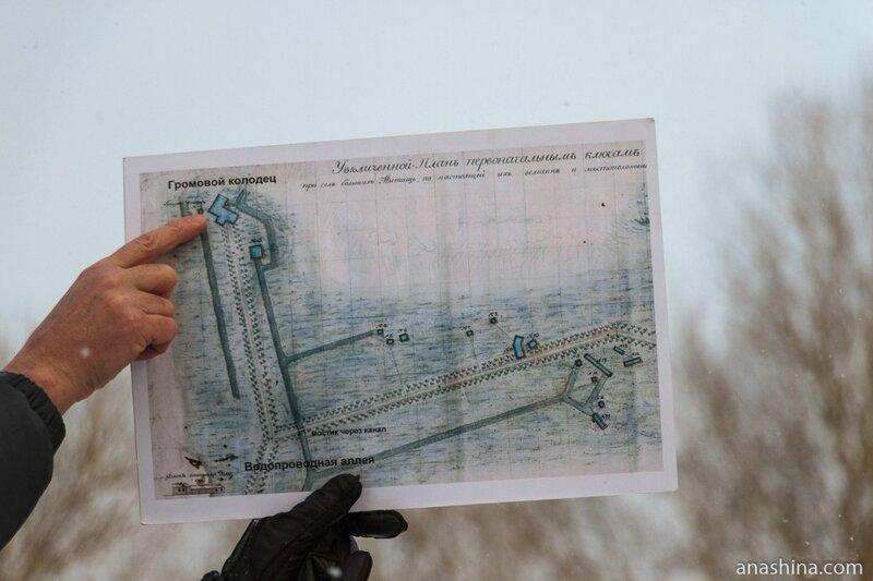План первых ключей Мытищинского водопровода