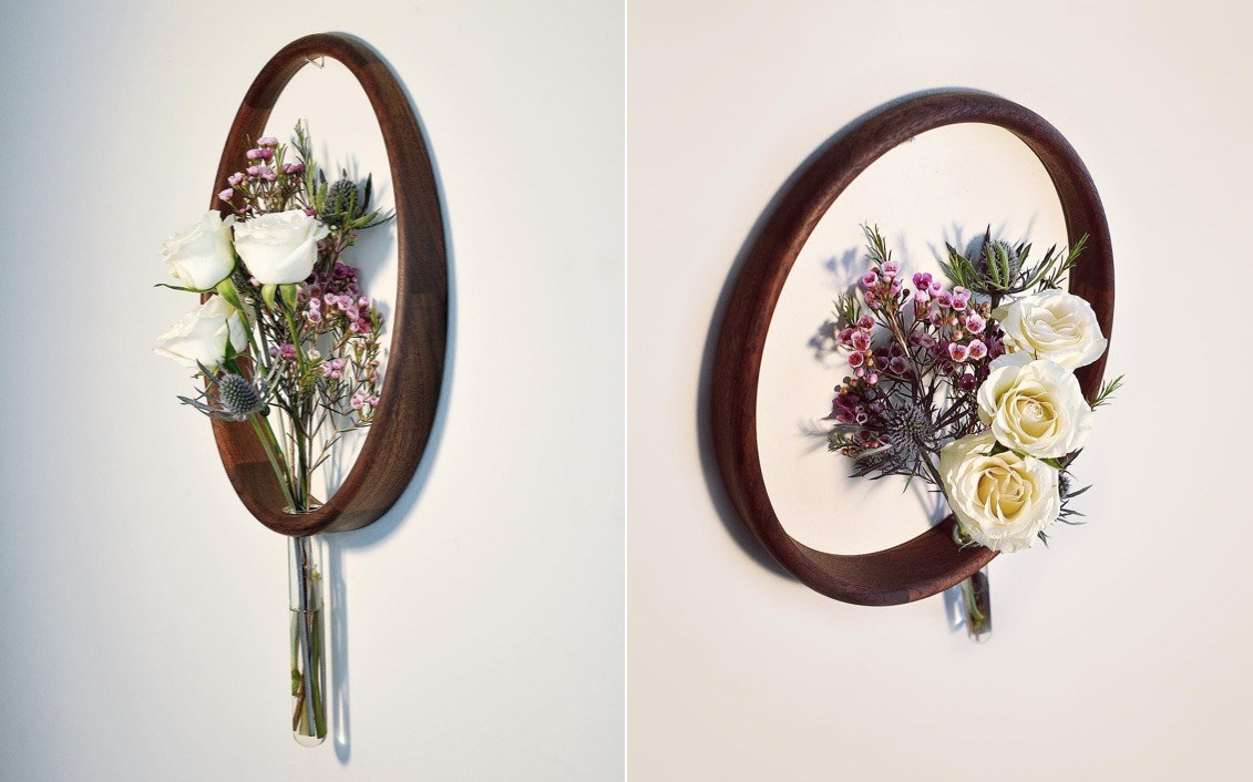 Vasos de madeira minimalistas para parede (14 pics)