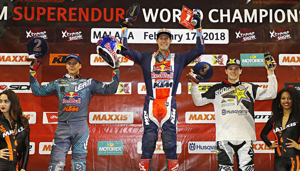 Кодди Уэбб выиграл 3-й этап SuperEnduro 2017-2018 в Малаге, Испания