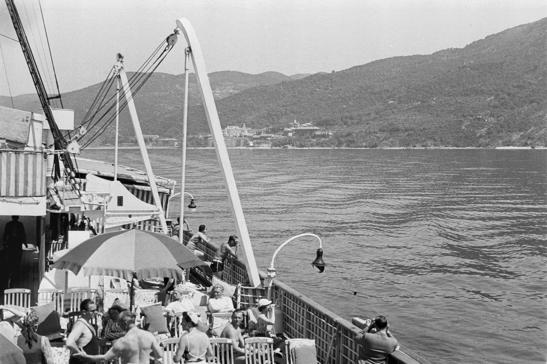 Средиземноморский круиз. Греция. Пассажиры на палубе