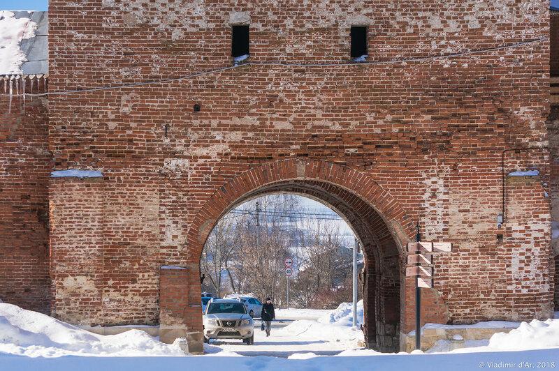 Богоявленские ворота. Зарайский кремль.