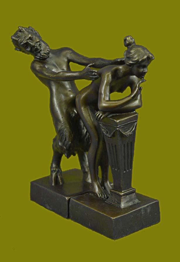 Сатир и обнажённая девственница. Франц Ксавьер Бергман, Австрия (1861-1936) Franz Xaver Bergman(nAA).jpg