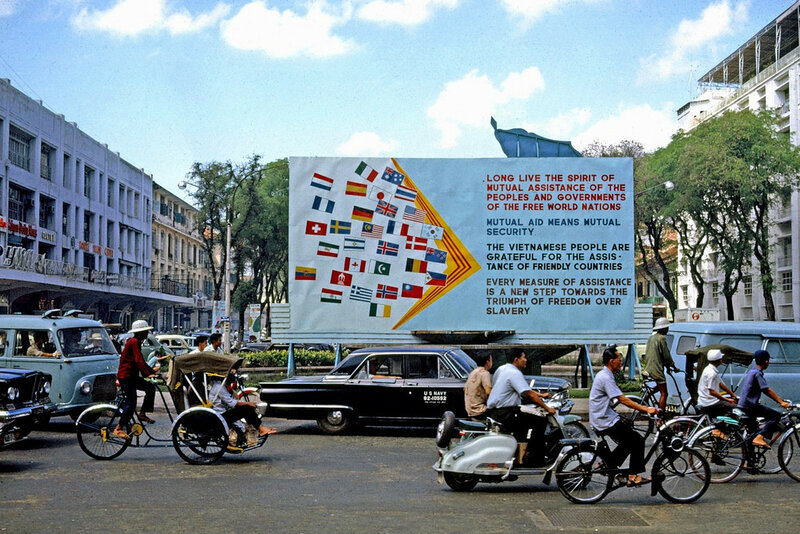 1965 Saigon Flags recognizing countries assisting in the Viet Nam war.jpg
