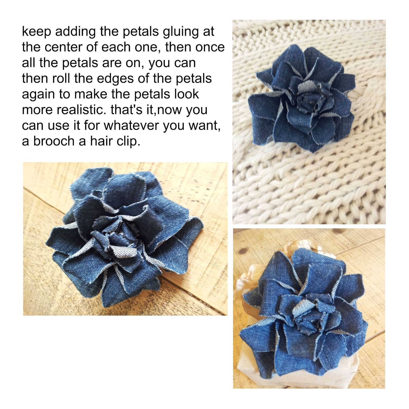 How to make flowers out of denim? ~ DIY Tutorial Ideas! Бохо Шик 2012