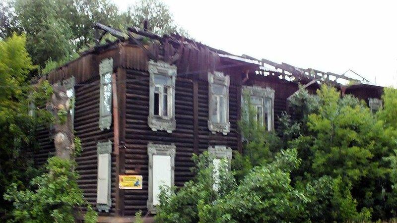 Горелый дом на улице Маяковского