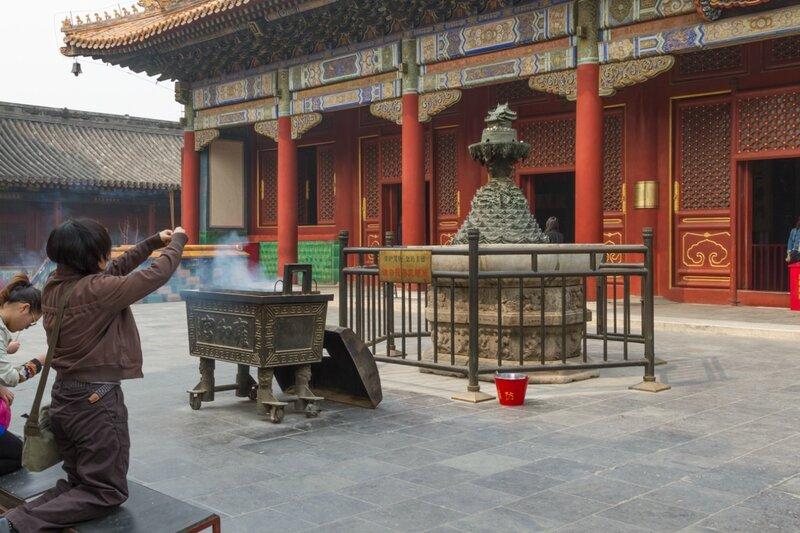 Гора Сумеру перед Залом Гармонии и Мира, монастырь Юнхэгун, Пекин
