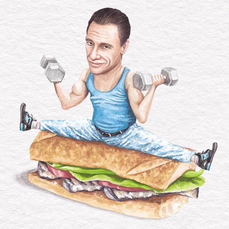 Associer les celebrites a des sandwichs