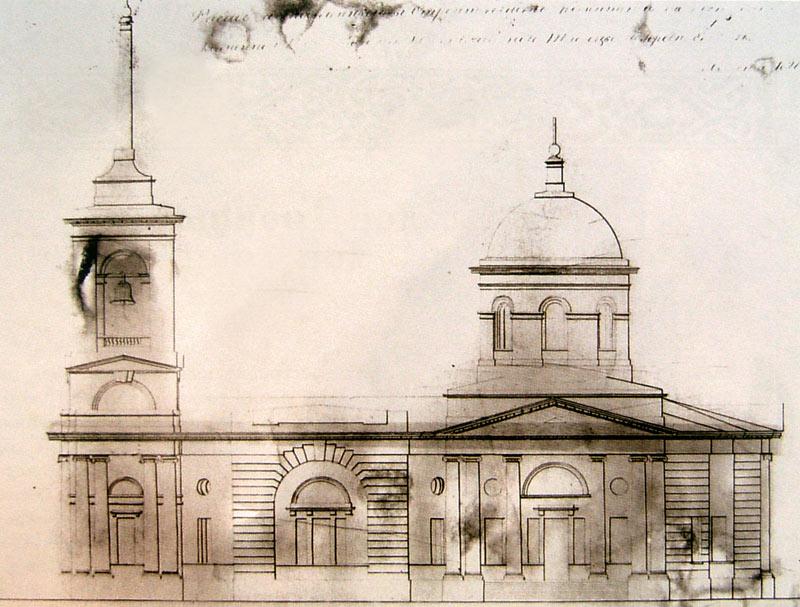 Проект Троицкой церкви архитектора Шарлеманя