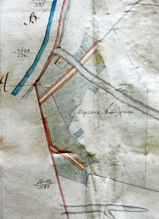 План деревни Ольшанец