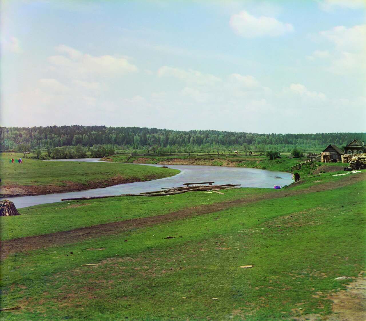 Окрестности Екатеринбурга. Река Чусовая в деревне Макаровой