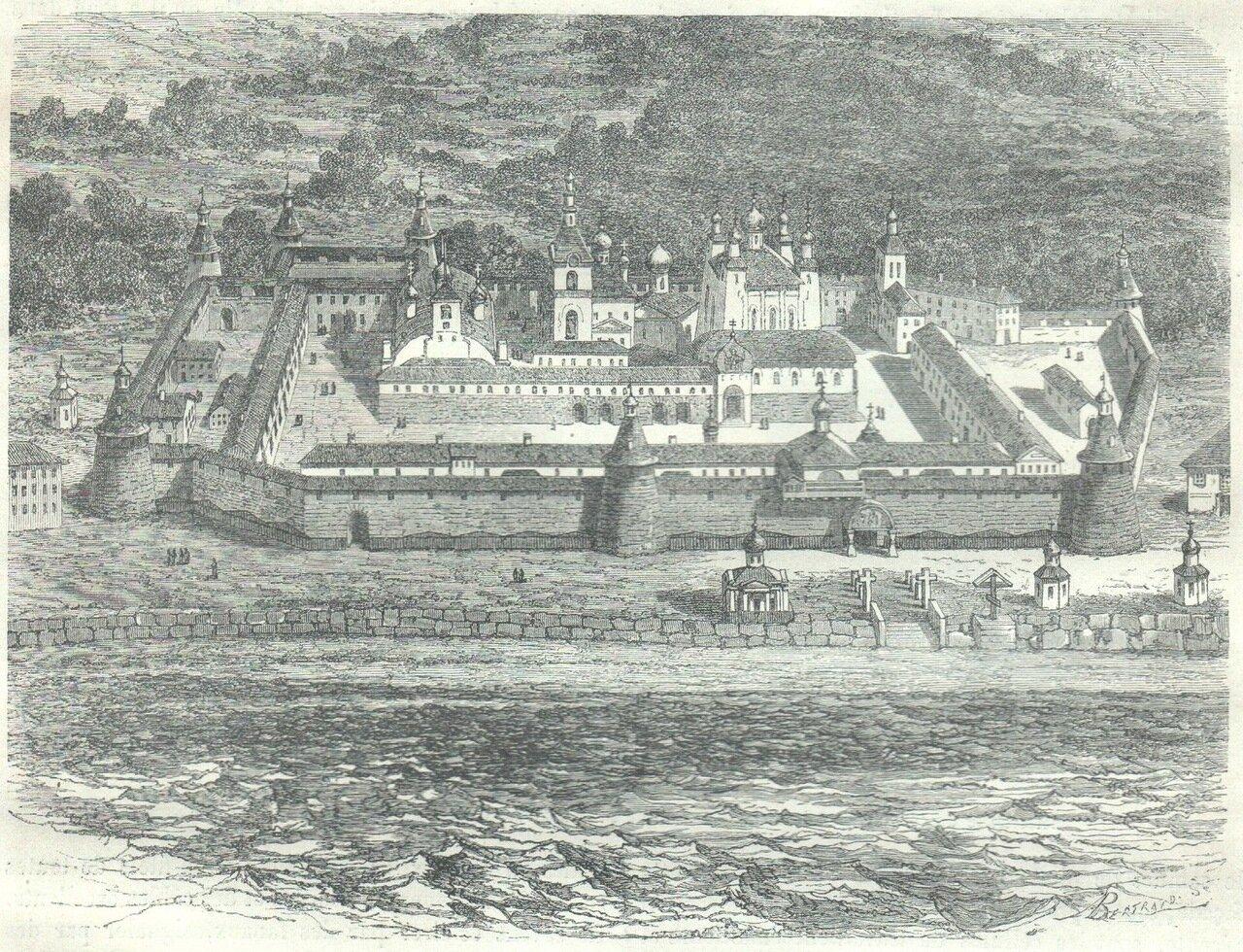 1872. Соловецкий монастырь с высоты птичьего полета