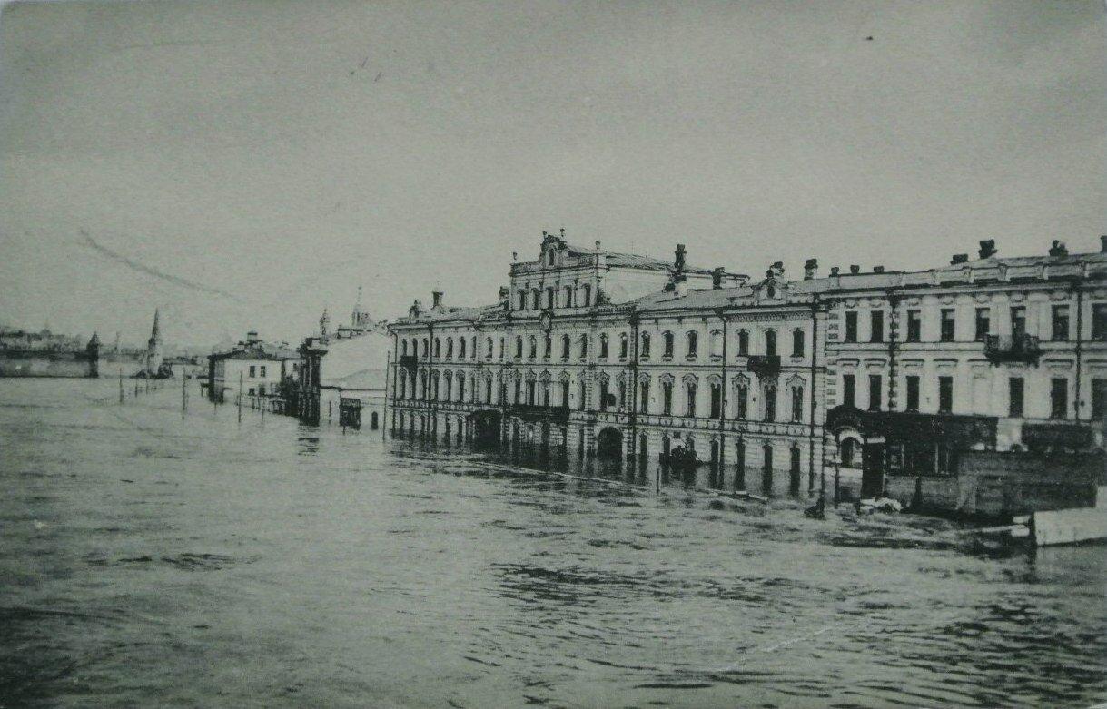 Наводнение в Москве в апреле 1908 г. По фотогр. А.Ф.Тарасова