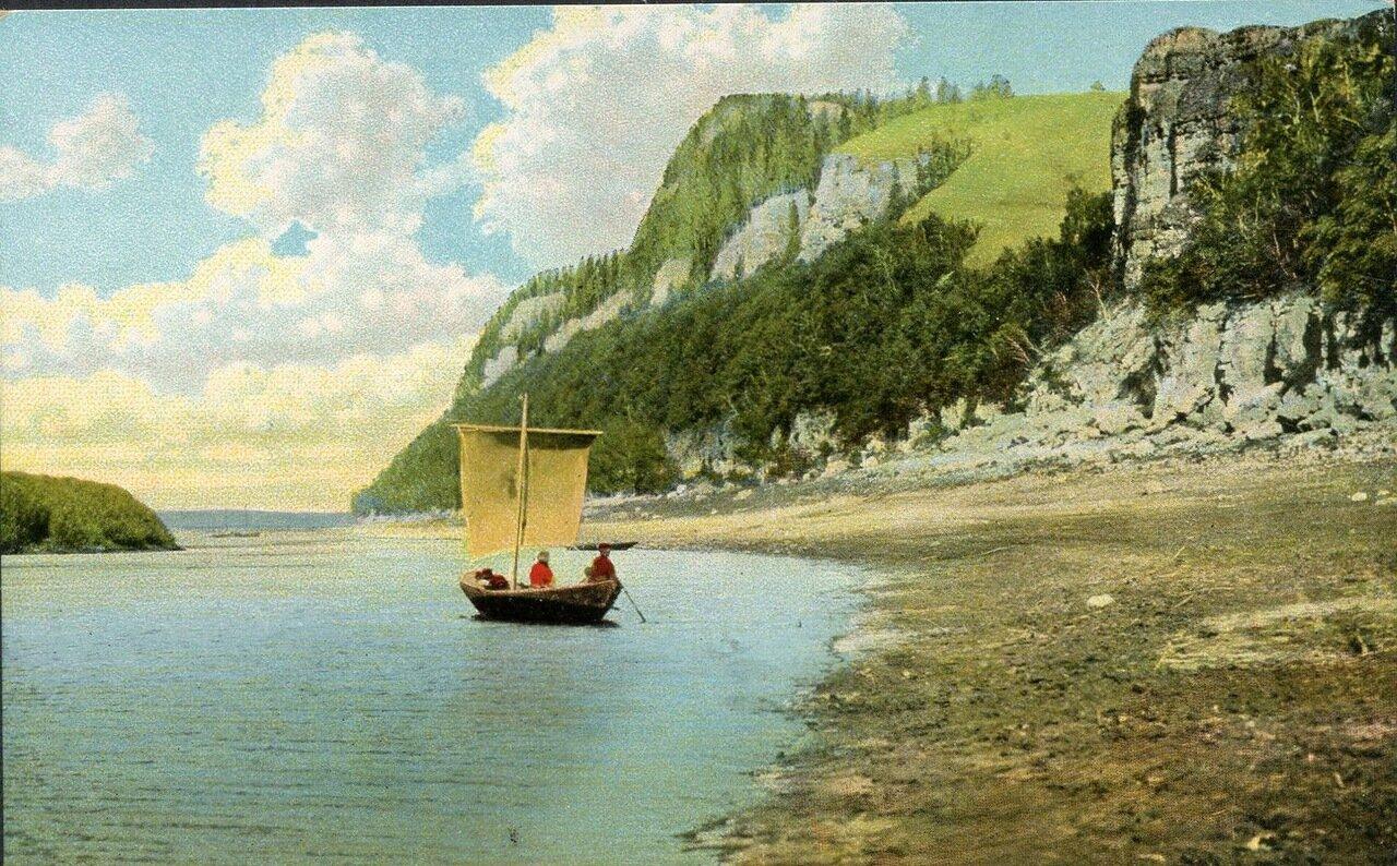 Гора Лепешка на реке Усть на Волге