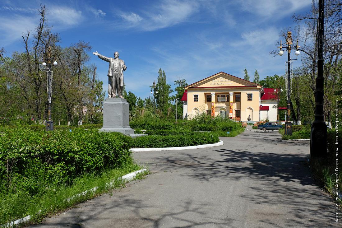 памятник Ленину на центральной площади Пятиморска