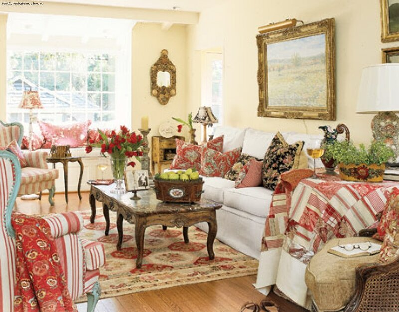 French country cottage living room ᘡղbᘠ  Indulgy