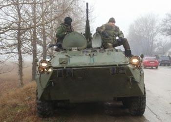 Российские войска направились вглубь Крыма
