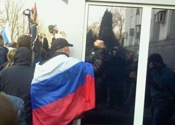 Жители Донецка прекратили штурм здания службы безопасности Украины