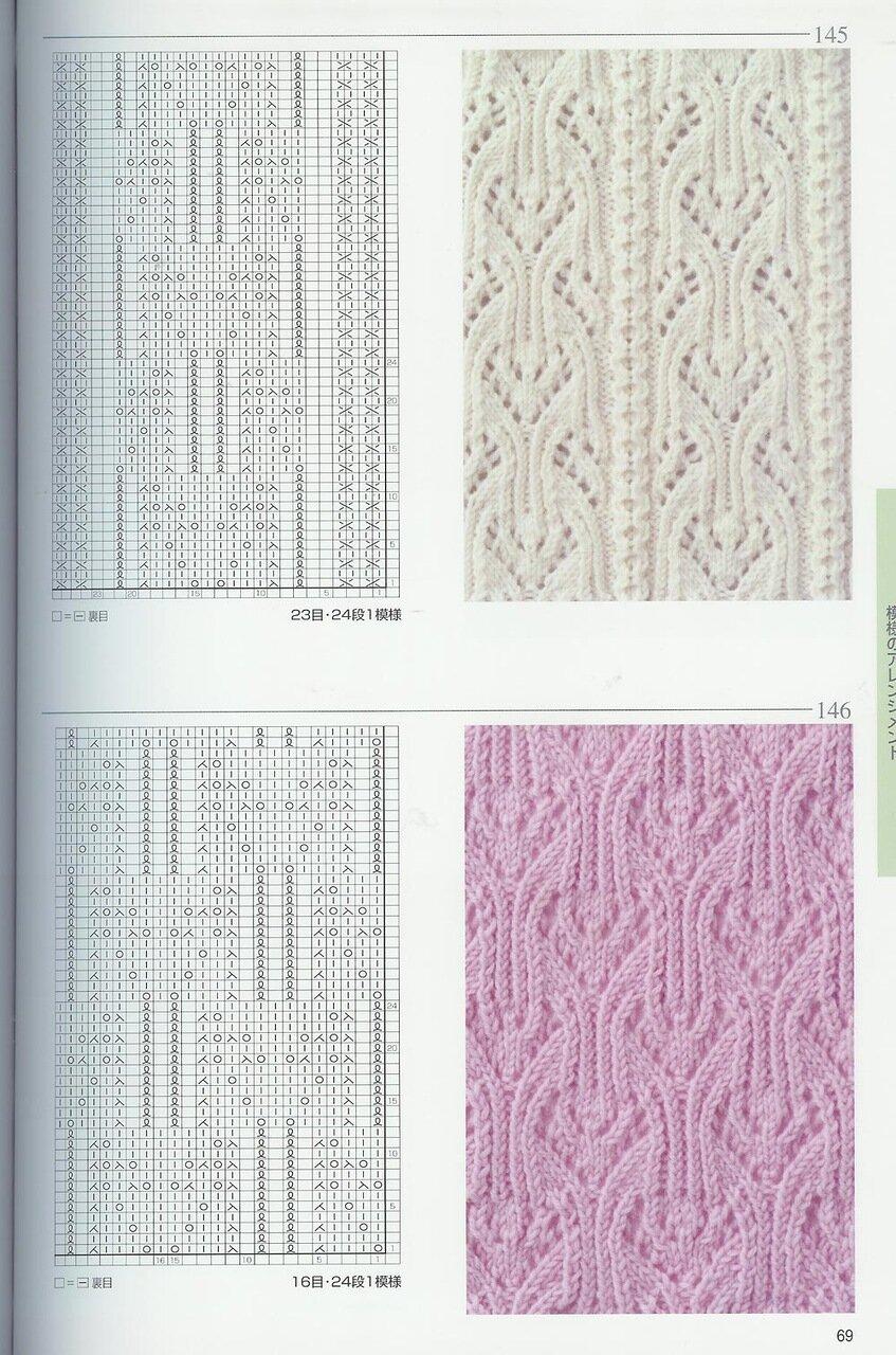 Модели рисунков для вязания спицами