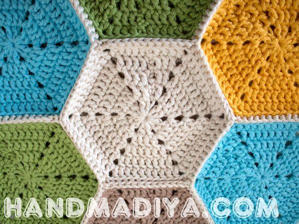 Красивые мотивы крючком. Crochet - a small towel or plaid