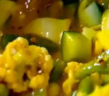 Овощи уварить с маринадом